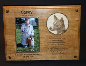 Agility - Memorial Plaque - Casey