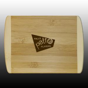 Bamboo Cutting Board Retro Logo